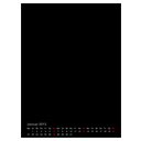 Kalender A4 Hochformat schwarz