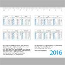 Taschenkalender 4-Seiter Hochformat