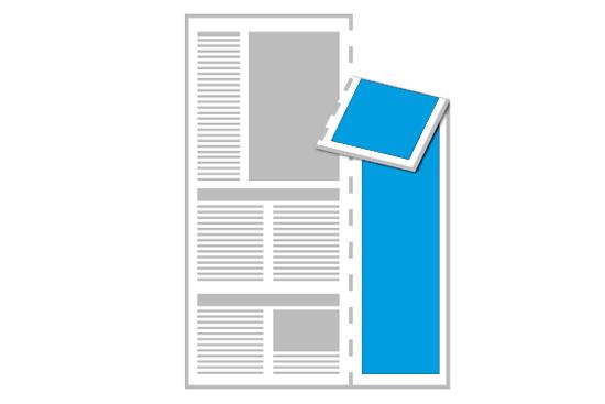 Zeitung mit Längsperforation