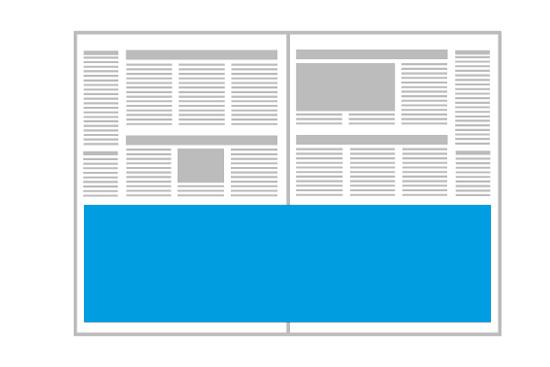 Zeitung mit Panoramaseite