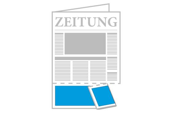 Zeitung mit Querperforation