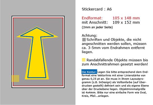 Datenanlageblatt Stickercard