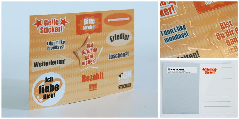Stickercard mit angestanzten Aufklebern